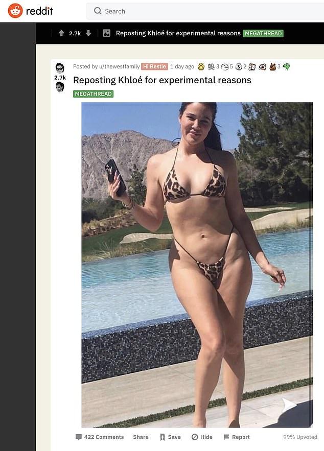 Unauthorized: The Kardashian PR team are reportedly scrambling to get this photo of Khloe Kardashian taken off the internet