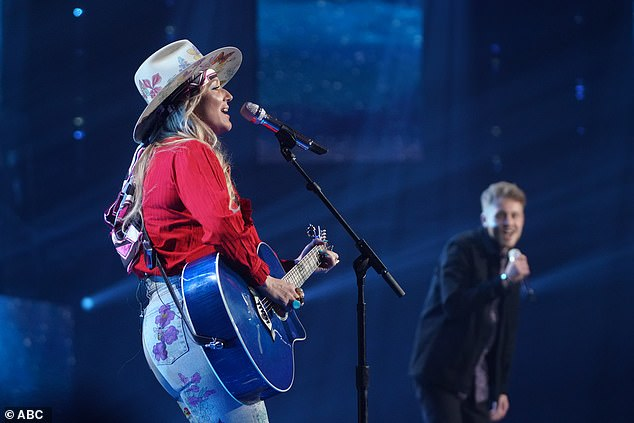 Hit song: Jewel sang a duet of her hit song Who Will Save Your Soul? with Hunter