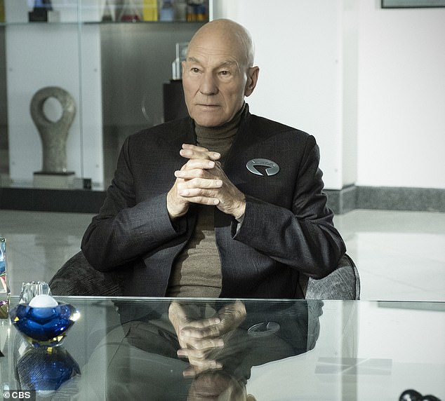 Star:Set 20 years after the events of Star Trek: Nemesis (2002), Patrick (pictured in character) produced and starred in season one's 10-episode spin-off
