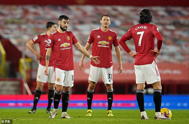Fernandes (left) says United need to improve if they are to challenge for titles going forward