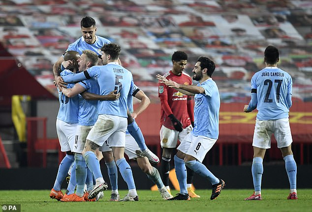 United were knocked out of the Carabao Cup semis by rivals Manchester City in January