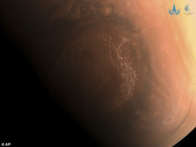 At the end of February the CNSA revealed this image thatshows a high-resolution photo of the surface of Mars taken by China's Tianwen-1 probe