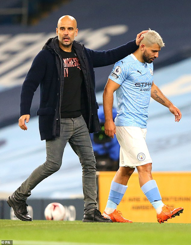 Pep Guardiola (left) is looking to guide Manchester City to a first Champions League semi-final