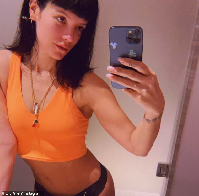 Surgery: Lily Allen has revealed she had liposuction 'on my bum' and was so embarrassed when an ex asked her what the scars were, she pretended she had a hip replacement