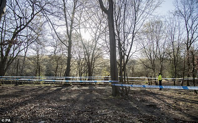 A large area has been cordoned off by police following the discovery of a body on Monday