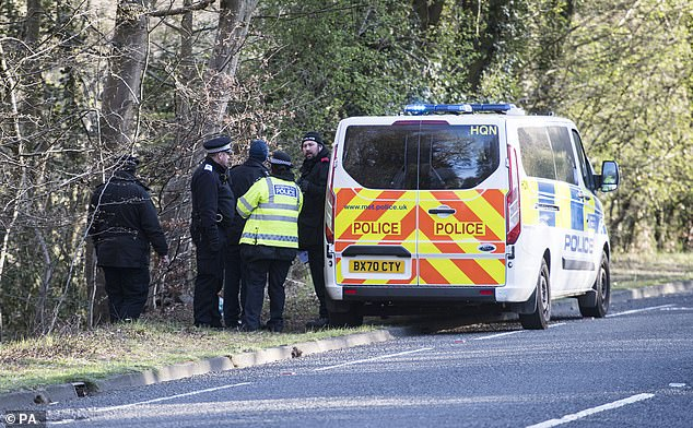 Metropolitan Police at the scene at Wake Valley pond in Epping Forest following the discovery of a man's body. Richard Okorogheye's mother was told the body matches his description