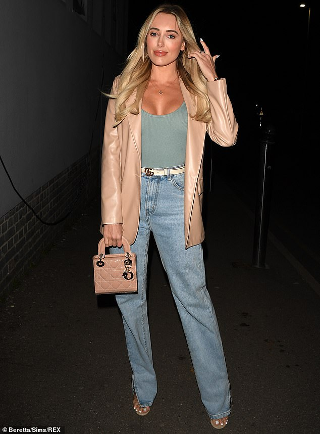 Yikes: Amber Turner (pictured) risked an awkward face off with Nicole Bass at filming on Sunday, following an explosive argument with her best friend, Clelia Theodorou on the latest installment of TOWIE