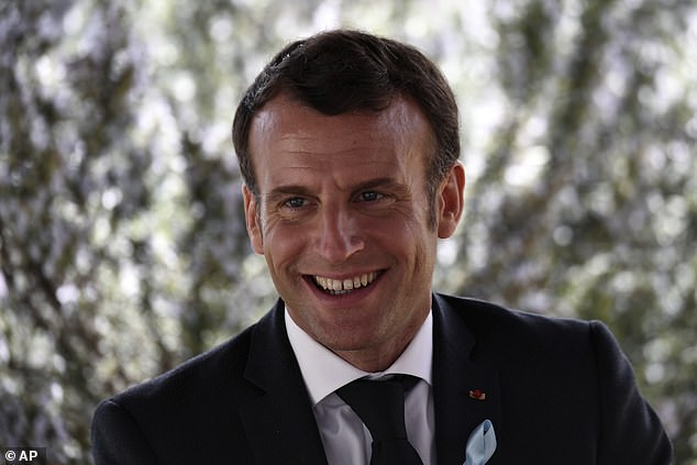 French President Emmanuel Macron smiles during his visit to the Autism spectrum disorders (ASD) Unit at Alpes-Isere Hospital in the French Alps last week