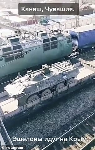 Pictured: More military hardware reportedly on the way to Ukraine