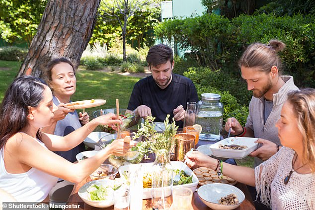 Sharing a meal with your loved ones reduces the risk of obesity and can improve your overall wellbeing, according to a new study into eating habits and health. Stock image