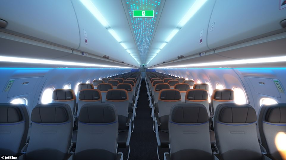 According to a press release from the airline, the flights will take off from New York's John F. Kennedy International Airport and the Boston Logan International Airport this summer. The inside design of theAirbus A321 Long Range single-aisle aircraft