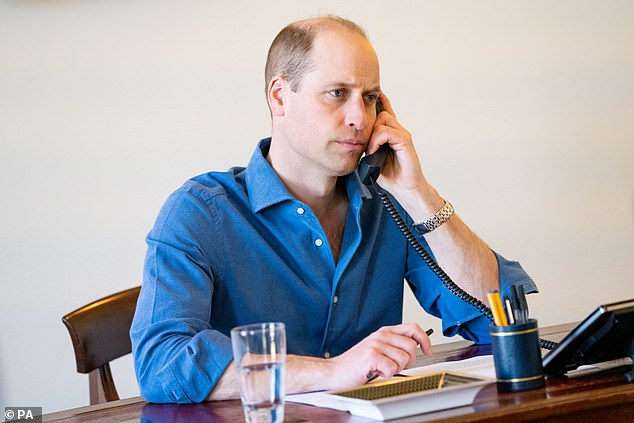 The Duke of Cambridge's praise came on a call to a consultant working at a Belfast hospital, after a series of phone and video calls to NHS staff across the country and in all departments since the start of the year.