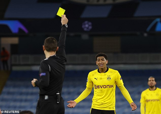 The official, bizarrely, gave the 17-year-old midfielder a yellow card for his role in the incident