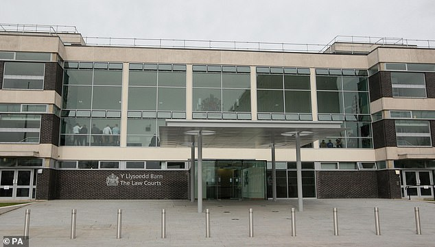 Howell-Walmsleyplaced a tracker in her car to follow her movements because he feared she was having an affair,Mold Crown Court (pictured) heard