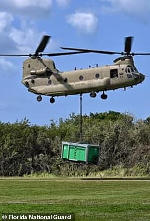 The Florida National Guard has flown pumps to the reservoir site and the Army Corps of Engineers is also there