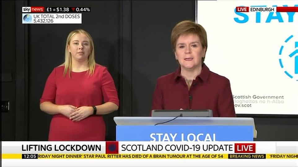 But confusion erupted over Moderna's supply today, after Scotland's First Minister Nicola Sturgeon revealed the first batch of doses arrived yesterday
