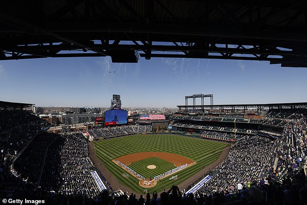Now the All-Star Game will be played at the Coors Field in Denver, Colorado (pictured), which has Republicans arguing that Colorado and Georgia have similar voting restrictions. Psaki pointed out that every Colorado voter receives a mail-in ballot unprompted