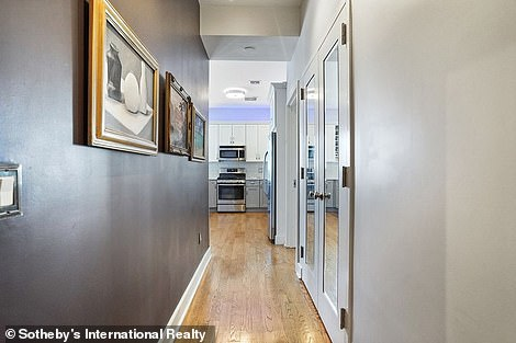 New digs: The hallways on the property are shown