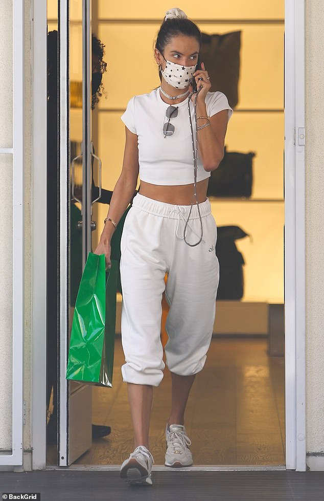 On the hunt: Alessandra Ambrosio bought herself an early birthday treat while doing some post-workout shopping in West Hollywood on Tuesday