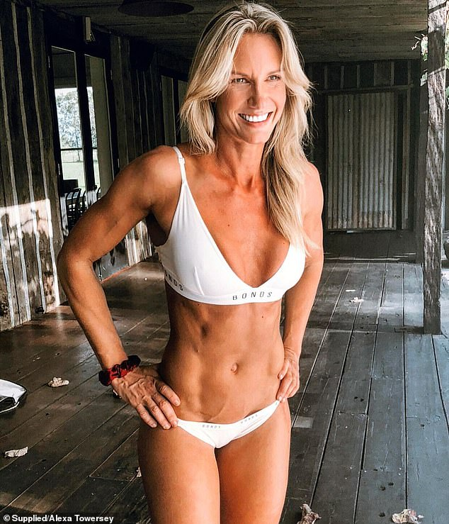 Alexa Towersey , 40, from Sydney, has been sober for the past 13 years after she turned her life around after losing her father to alcohol addiction (pictured now)