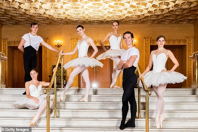 Brook (second right) on Monday night scooped the Telstra Ballet Dancer Awards, taking out both the Rising Star and People's Choice categories