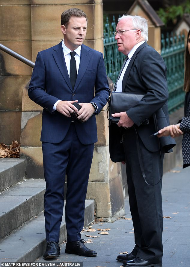 2GB's Ben Fordham was pictured outside a packed St Mary's Cathedral in Sydney