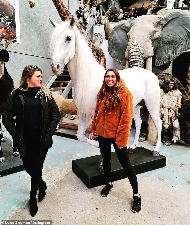 Bringing him home: She shared the emotional moment to her Instagram page revealing that the white stallion would now take 'pride of place' in the entrance hall of her new house