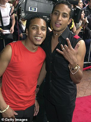 Dowlut, with his late brother Darren (front), was one half of the dance and R&B outfit Disco Montego, which remixed tracks by Elton John and Mariah Carey