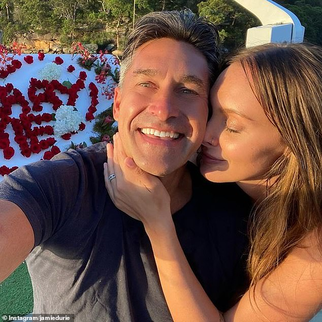 Happy: In November last year, Ameka confirmed their romance to Daily Mail Australia