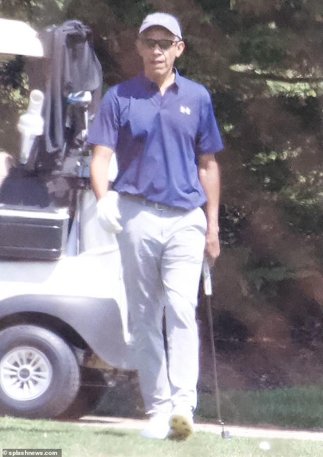 Barack Obama, 59, on Tuesday played a round of golf near Washington DC