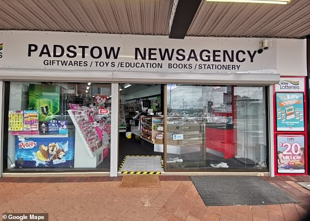 Padstow Newsagency owner Lin Yang said the outlet was in celebration mode after selling a major prize winning entry to a regular customer