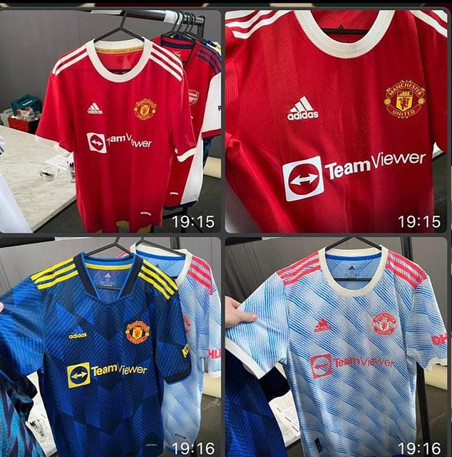 Images of Manchester United's new shirts for the 2020-21 season appear to have been leaked