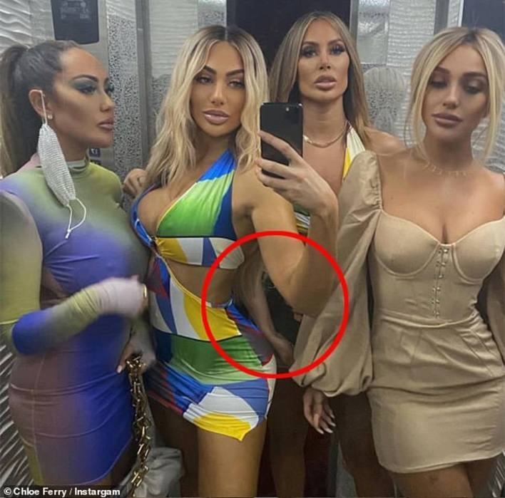 In February fans pointed out yet another fail when Chloe posted a snap from Dubai in which one of her friend's arms appeared out of place and warped