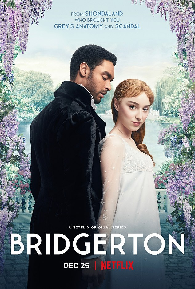 The series, set in a fictional version of regency era London, follows the steamy and dramatic romance between the determined-to-stay-single Duke and love interest Daphne Bridgerton, played by English actress Phoebe Dynevor