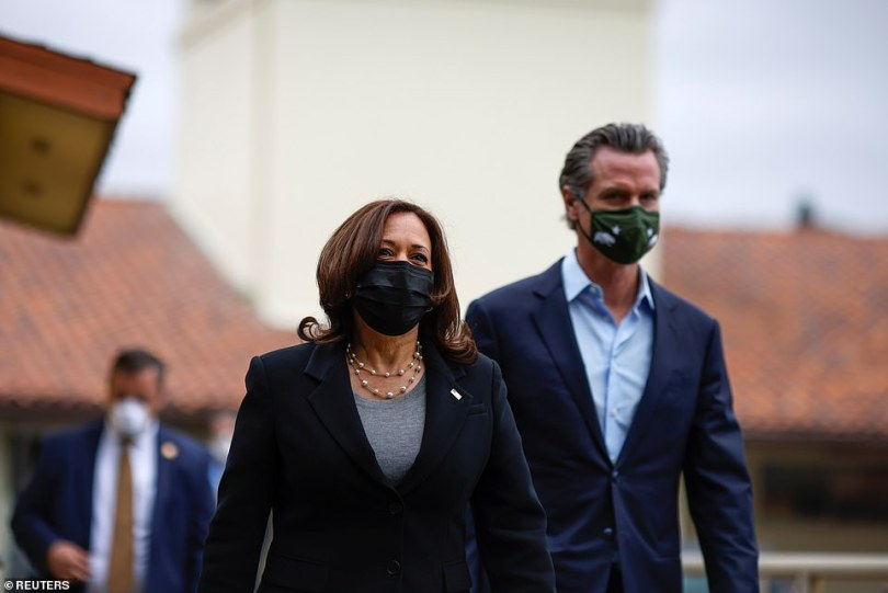 She spent Easter weekend at her Brentwood home before meeting with Gavin Newsom on Monday in a show of support to the beleaguered California governor