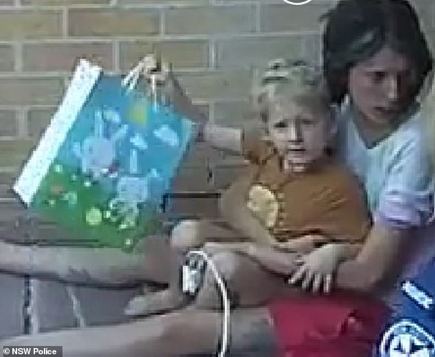 A young mum and her two children have been found four days after they fled a Sydney hospital