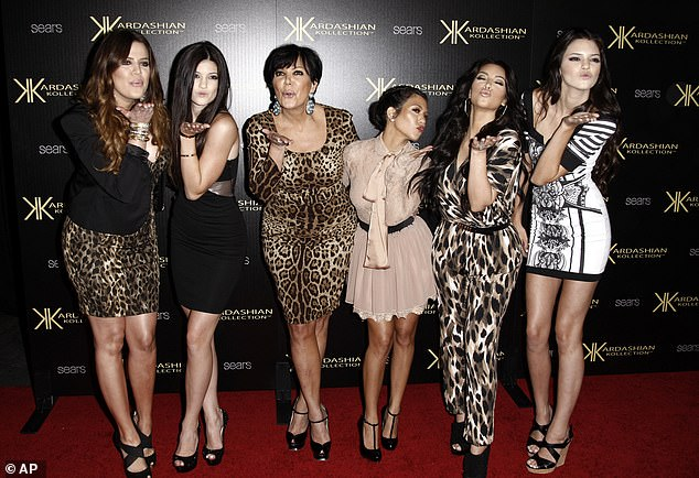 In its way, the Kardashian culture of 'fake views' is every bit as corrosive as Donald Trump's penchant for 'fake news'. Pictured: Khloé, Kylie, Kris, Kourtney, Kim and Kendall in 2011