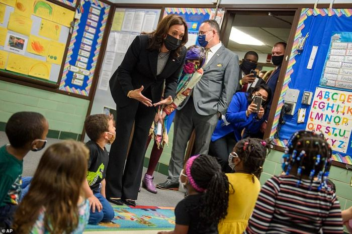 She made time to visit children at the West Haven Child Development Center in Connecticut shortly after being appointed the new Border Czar