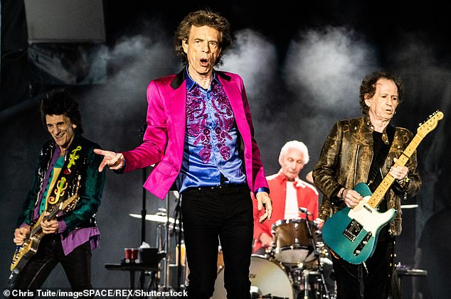 Icons:Ronnie formed part of the rock band the Rolling Stones along with bandmates Mick Jagger, Keith Richards and Charlie Watts