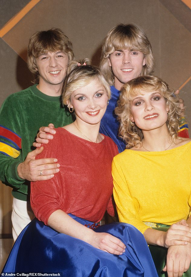 Career:Cheryl, who shot to fame when band Bucks Fizz won Eurovision in 1981, now performs with bandmates Mike, 66, and Jay Aston, 59, as The Fizz (pictured in 1981)