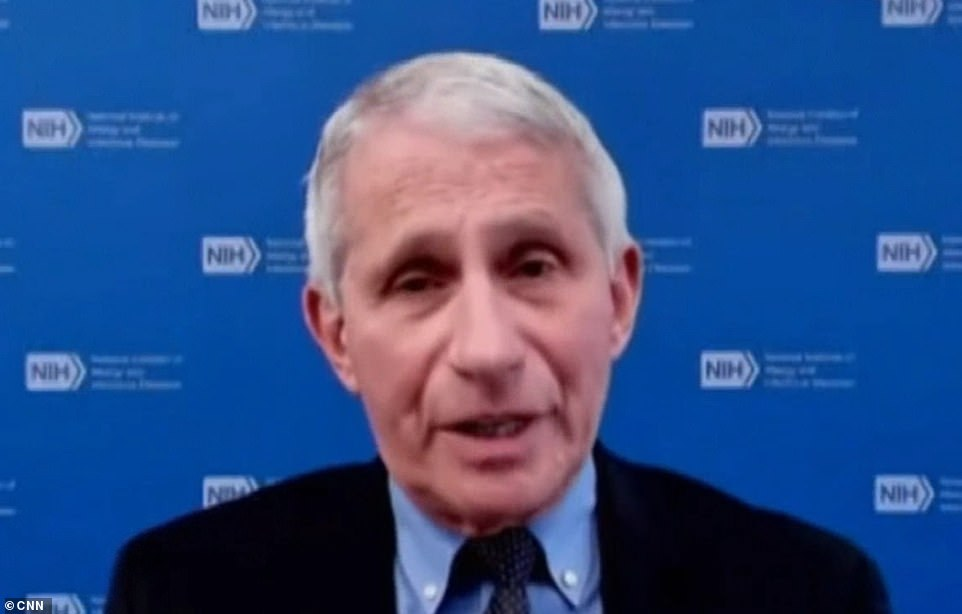 On Wednesday, Dr Anthony Fauci (pictured) said the U.S. does not need any doses of the vaccine developed by AstraZenenca and the University of Oxford