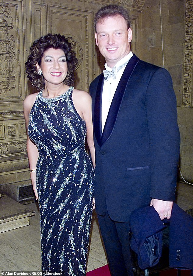 Business and pleasure: Henrik worked as a plumbing engineer on a ship when the couple met, but he went on to become Jane's manager after they married in 1998 (Pictured in 1998)
