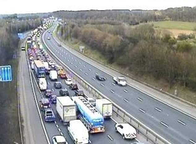 Emergency services were called to the scene and parts of the M25 and A2 were closed causing significant tailbacks