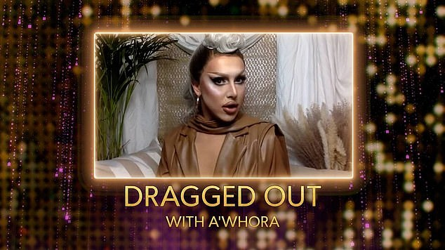 Spin-off:The new couple were appearing on a new digital show launched by The Only Way Is Essex, presented by drag artist A'Whora (pictured), who recently starred in the second series of RuPaul's Drag Race UK
