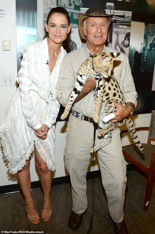 Tough turn:'Today, we reach out to share some personal Hanna Family news,' his kids said in a letter. 'Doctors have diagnosed our dad, Jack Hanna, with dementia now believed to be Alzheimer's disease.' Seen with Katie Holmes on Good Morning America in 2017