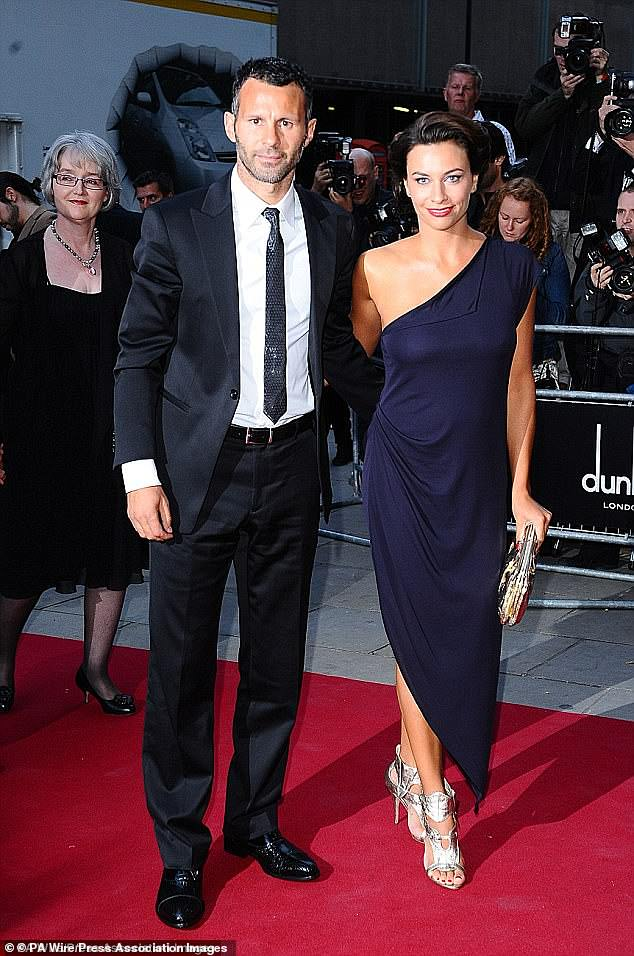 Long-running:She and Ryan first began dating secretly in 2003 and continued their affair while his wife Stacey Giggs had been pregnant with their two children (pictured)