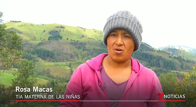 Rosa Macas, the girls' maternal aunt, was horrified on seeing them dumped in the desert