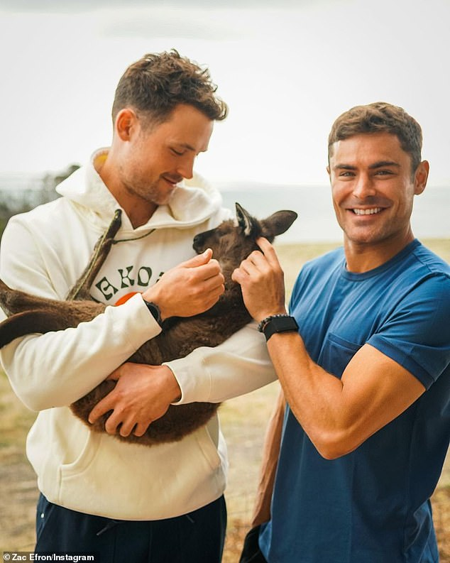 Prominent visitors: Since the Covid-19 pandemic, there has been an influx of Hollywood stars to the area, including Zac Efron (right), Nicole Kidman and Melissa McCarthy