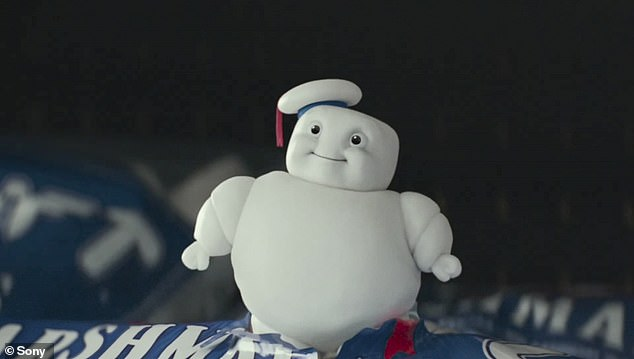 Too cute!  No-plot clip confirms the iconic Stay-Puft Marshmallow Man from the 1984 classic will return as the adorable Mini-Pufts