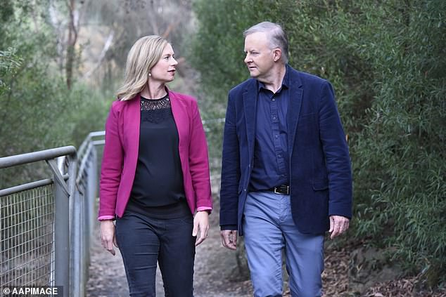 Anthony Albanese has weighed in on bitter internal stoushes marring Labor's Tasmanian election campaign, backing the 'courageous' decisions of state leader Rebecca White